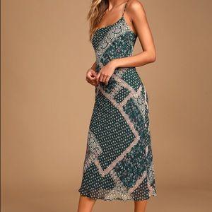 Lulu's When in Roam Multi-print Midi Dress